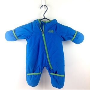 NWOT The North Face Blue Baby Snowsuit 0-3M